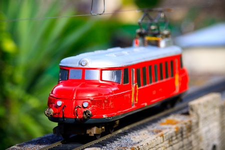 Miniature train in Switzerland miniature city
