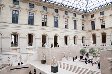 Famous Louvre museum interior