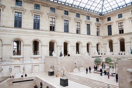 Famous Louvre Museum Interior Stock Photo, Picture And Royalty Free ...