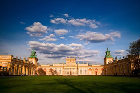Wilanow Palace in Warsaw on a sunny day Editorial