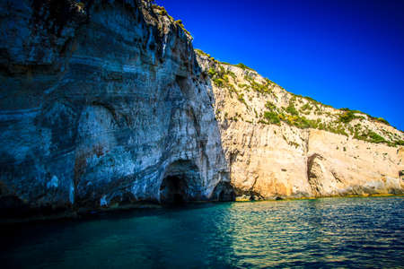 Blue caves, Zakynthos island, Greece photo