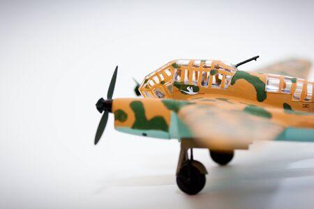 model kit: WWII model kit plane on a white background Stock Photo
