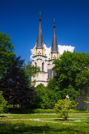 monastery nature: Admont abbey view during lovely weather in summer