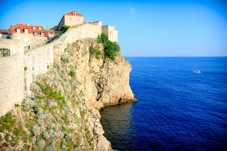 View of the Dubrovnik coast line
