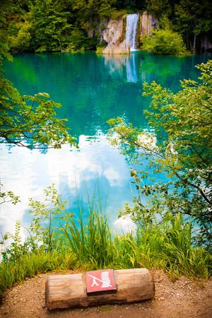 Waterfall in Plitvice lakes park