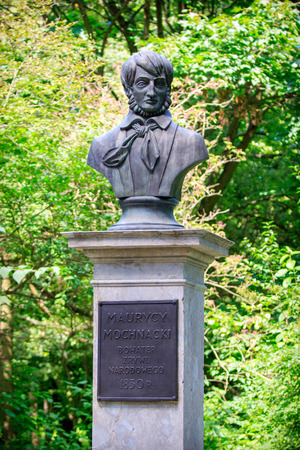 national poet: Bust of Maurycy Mochnacki in Warsaw
