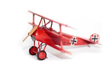 Famous Red Baron, Fokker Dr. I airplane plastik model kit hand made