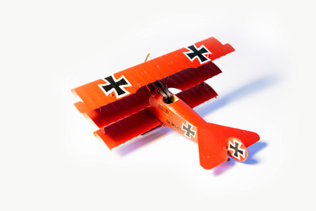 Famous Red Baron, Fokker Dr. I airplane plastik model kit hand made