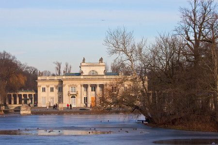 Palac na wodzie, Lazienki Park, Warsaw Stock Photo