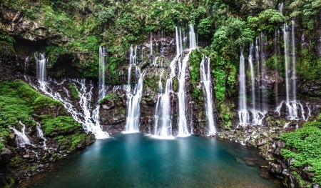 Langevin waterfall, Reunion island