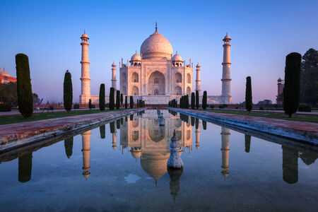 taj: Taj Mahal Reflect Stock Photo