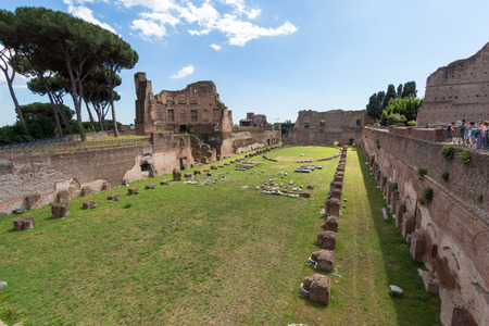 Famous Roman ruins in Rome