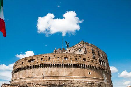 and saint: Rome - Castel saint Angelo, Italy