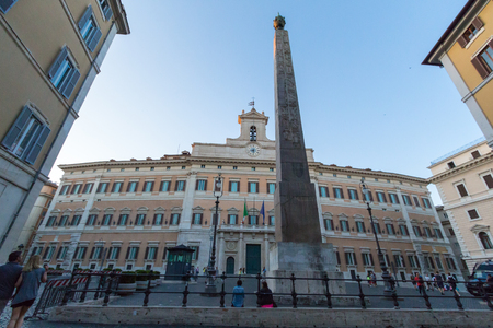 Roma: Palazzo Montecitorio, Chamber of Deputies, Italian roma Editorial