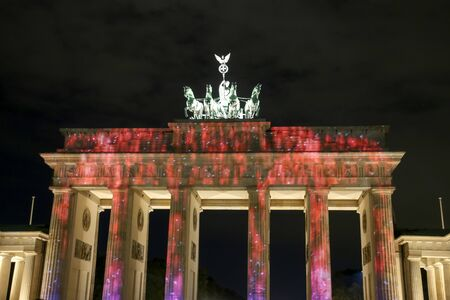 The Brandenburg Gate in Berlin at , Germany Stock Photo