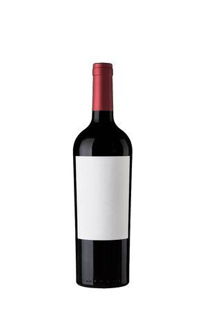 Red Wine Bottle label Zdjęcie Seryjne