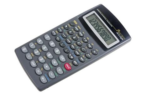 algebra calculator: New scientific calculator isolated on white background