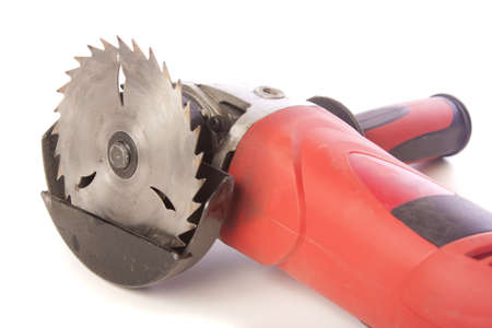 Circular saw isolated over white background photo