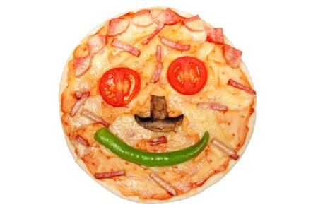 Leckere italienische Pizza isolated on a white background Standard-Bild - 9373874