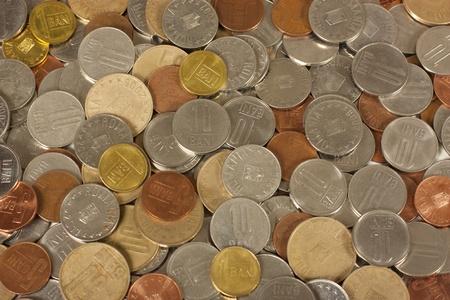 leu: Diversi rumeni valuta monete Archivio Fotografico