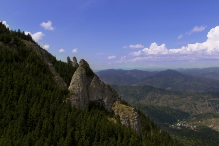 Landscape in Ceahlau Mountain, Romania  photo