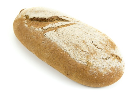 Traditional rye bread isolated on white background