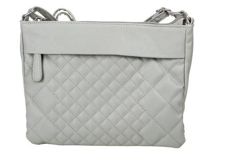 pochette: Gray women bag isolated over white background