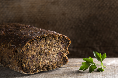insides: Cighir - Traditional Romanian baked roulade made from pork offal