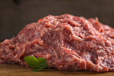 meatloaf: Romanian minced meat for meat balls called mici on wood