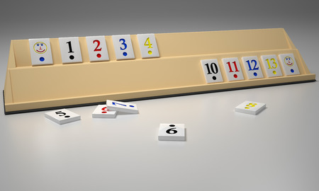 Rummy game pieces - 3d render image