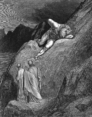 dante alighieri: The violent-Picture is from the Vision of hell by Dante Alighieri, popular edition, published in 1892, London-England. Illustration by Gustave Dore