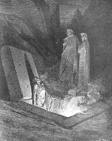 Weirding, each birth is a new disaster-Picture is from the Vision of hell by Dante Alighieri, popular edition, published in 1892, London-England. Illustration by Gustave Dore Editorial
