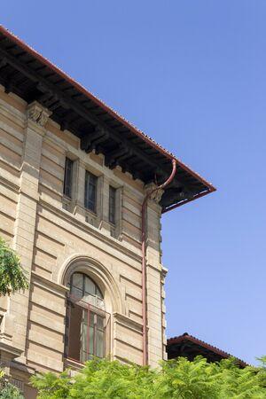 Building in Old Town Palma de Mallorca, Majorca, Spain, with window shutter