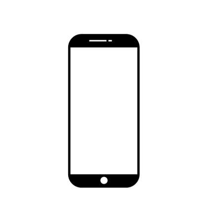 Blank smart mobile phone vector for your texts and logos. Simple mobile phone icon for social media.