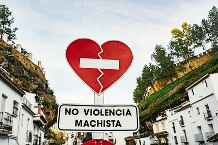 Interesting red street sign Setenil de las Bodegas