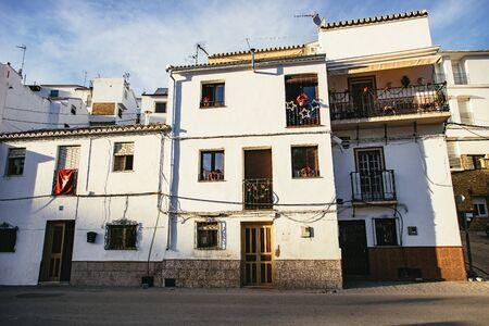 Traditional multi-storey whitewashed houses