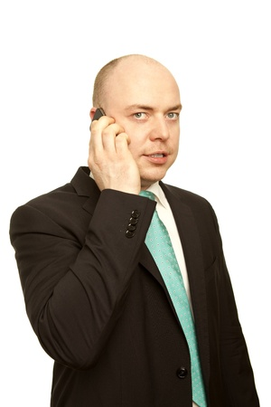 business man with cellphone Stock Photo