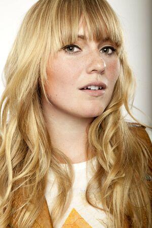 blond haired: stunning blond long haired girl posing Stock Photo