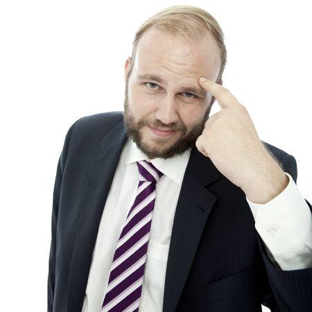 beard business man say that something