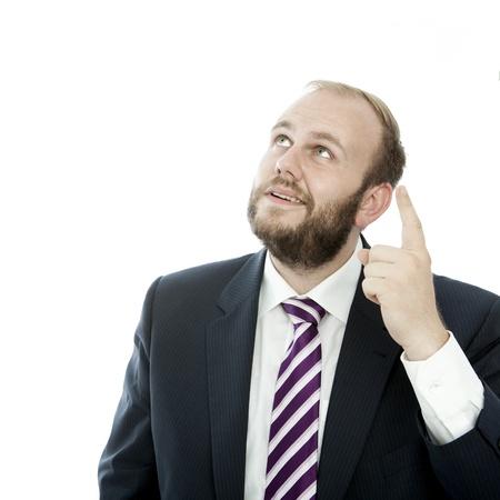 Bart Geschäftsmann etwas präsentieren Standard-Bild - 14899231