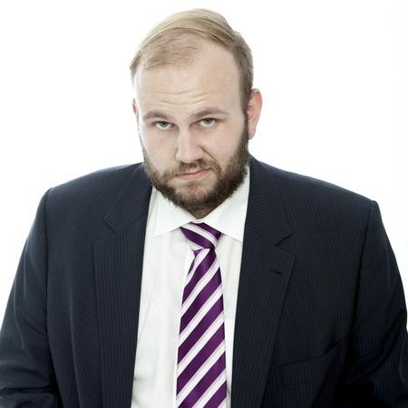 Baard zakenman triest Stockfoto - 14899239