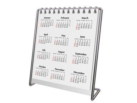 calendario escritorio: Aluminio cromado de escritorio y calendario 2008  Foto de archivo