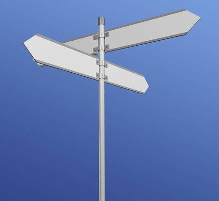 changing course: Blank signpost  path included