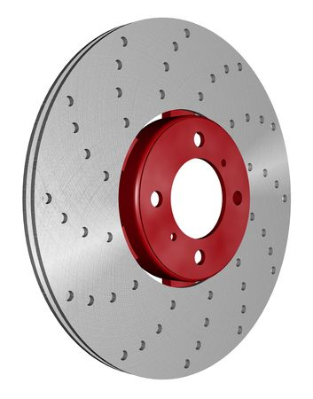 rotor: double disc brake rotor separated on white path included