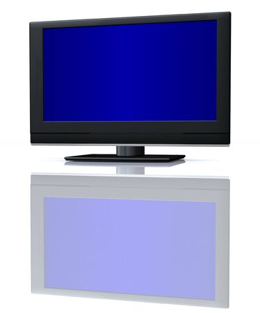 flat LCD tv Liquid-Crystal Display on white Stock Photo - 3585178