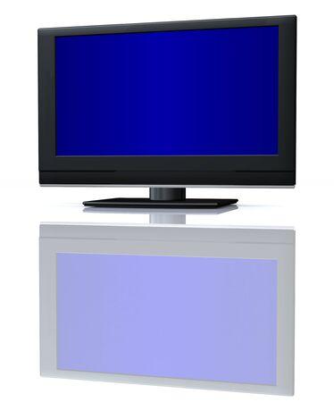 audiovisual: flat LCD tv Liquid-Crystal Display on white