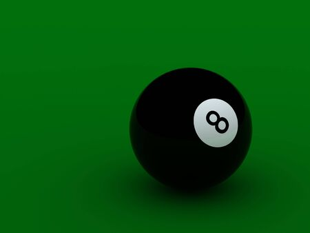 pool ball: black pool ball high quality on green