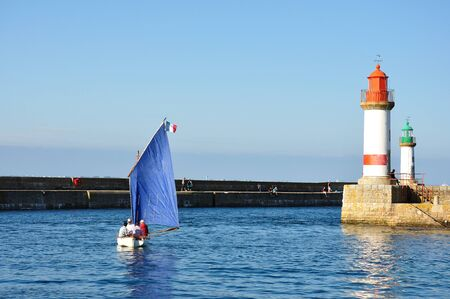 Ile de Groix in summer, France. countryside, sea and calm