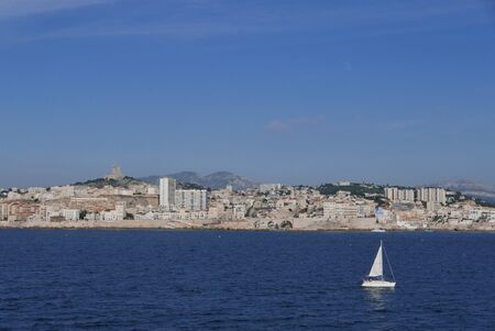 holidays on the island of beauty, in southern Corsica.Ferry boat sailing from Marseille