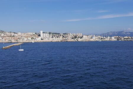 holidays on the island of beauty in southern Corsica.Ferry boat sailing from Marseille